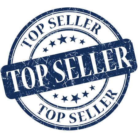 Top seller grunge round blue stamp photo