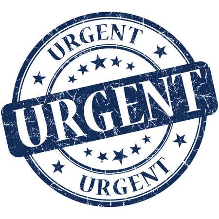 urgent grunge round blue stamp