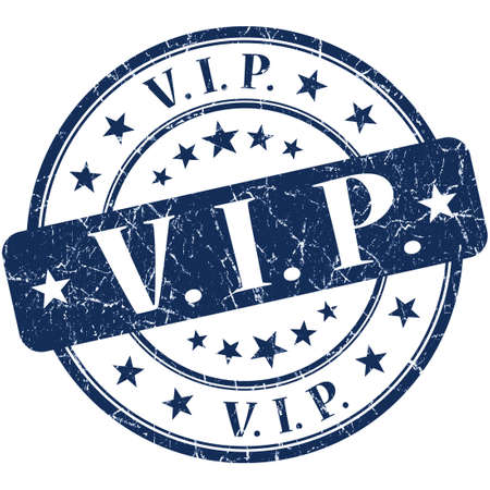 vip grunge round blue stamp photo