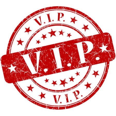 vip grunge round red stamp photo