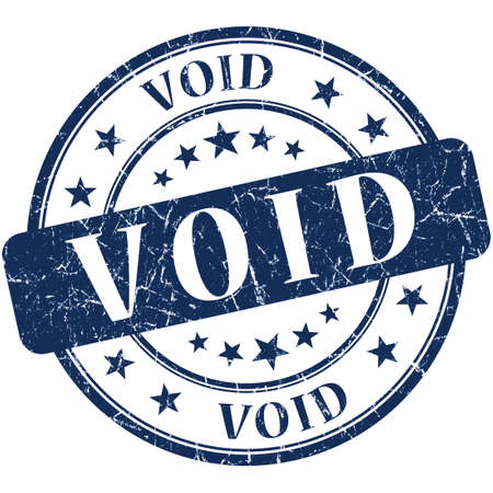 void: void grunge round blue stamp