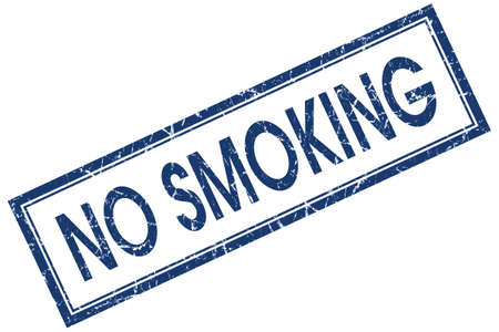 no smoking square blue grunge stamp photo