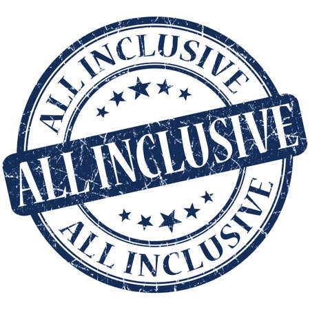 inclusive: All inclusive grunge blue round stamp Stock Photo