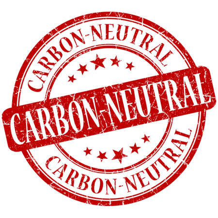 co2 neutral: carbon neutral grunge red round stamp Stock Photo