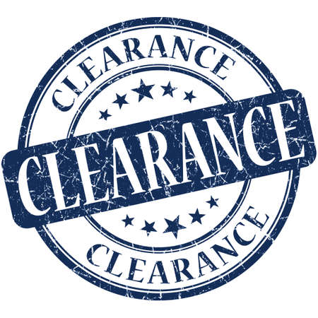 clearance sale: Clearance grunge blue round stamp