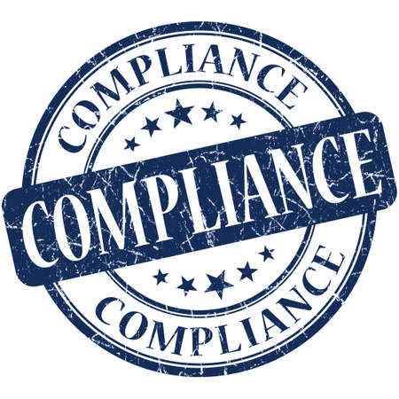 Compliance grunge blue round stamp Stock Photo