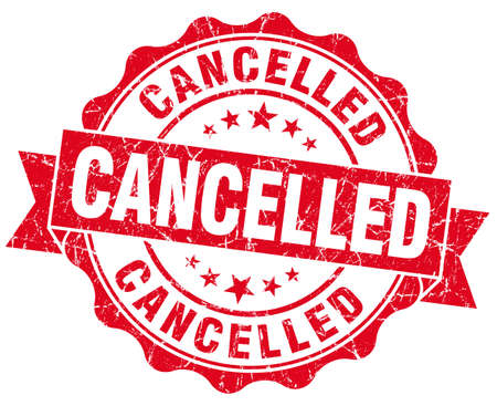 Cancelled grunge round red seal Stock Photo - 23235270