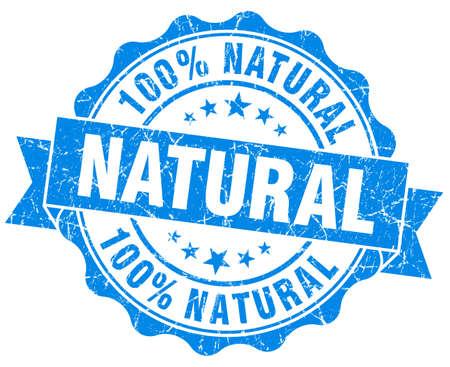 Natural grunge round blue seal photo