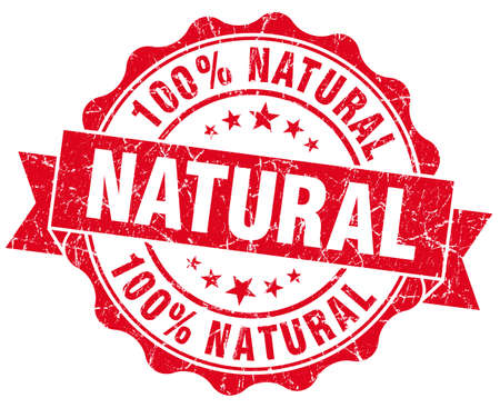 Natural grunge round red seal photo