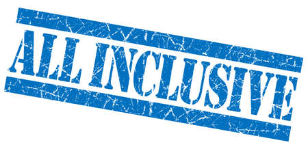 inclusive: All Inclusive grunge blue stamp