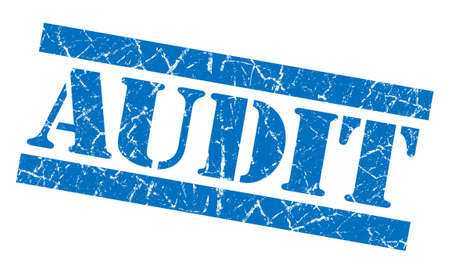Audit grunge blue stamp photo