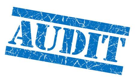internal revenue service: Audit grunge blue stamp