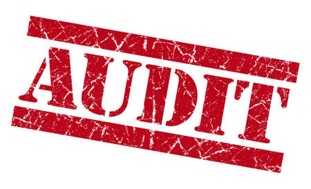quality control: Audit grunge red stamp Stock Photo