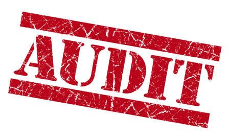 Audit grunge rode stempel Stockfoto