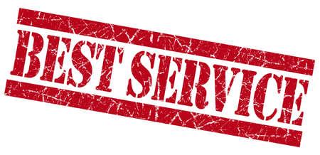 premier: Best service grunge red stamp Stock Photo