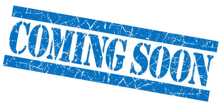 Coming soon grunge blue stamp Stock Photo