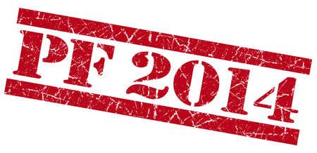 pf: PF 2014 grunge red stamp