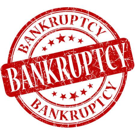 moneyless: Bankruptcy grunge red round stamp