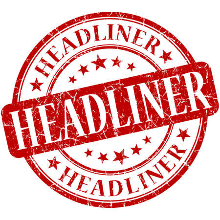 headliner: Headliner grunge red round stamp Stock Photo