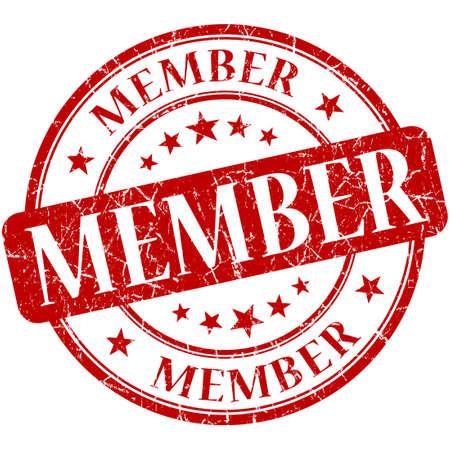 vip area: Member grunge red round stamp