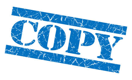 Copy blue grunge stamp