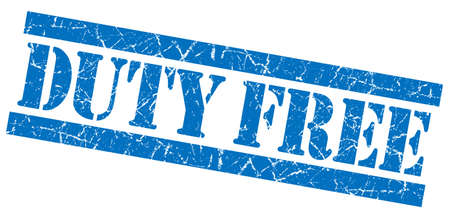 duty: Duty Free blue grunge stamp Stock Photo