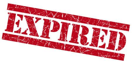 Expired red grunge stamp photo