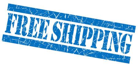 Free shipping blue grunge stamp Stock Photo