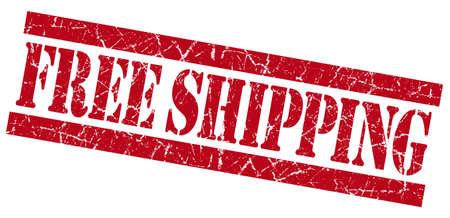 gratis: Free shipping red grunge stamp Stock Photo