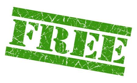 freebie: Free green grunge stamp Stock Photo