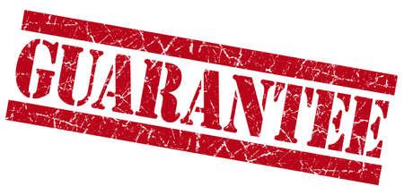 assure: Guarantee red grunge stamp