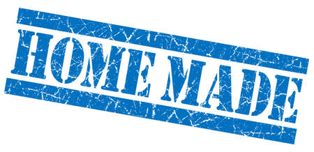 home made: Home made blue grunge stamp Stock Photo