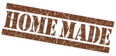 home made: Home made brown grunge stamp Stock Photo