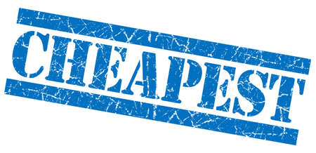 cheapest: Cheapest grunge blue stamp Stock Photo
