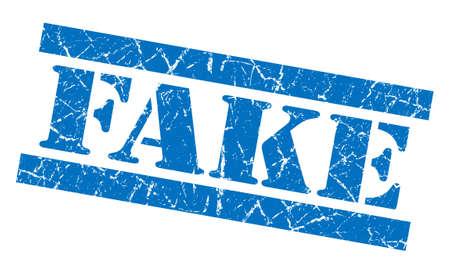 spurious: Fake grunge blue stamp