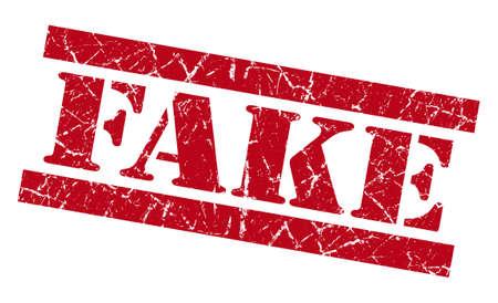 red stamp: Fake grunge red stamp