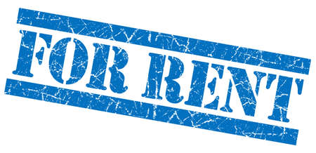 for rent: For rent grunge blue stamp Stock Photo
