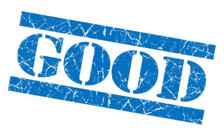 Good grunge blue stamp