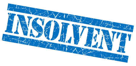 insolvent: Insolvent grunge blue stamp
