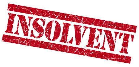moneyless: Insolvent grunge red stamp