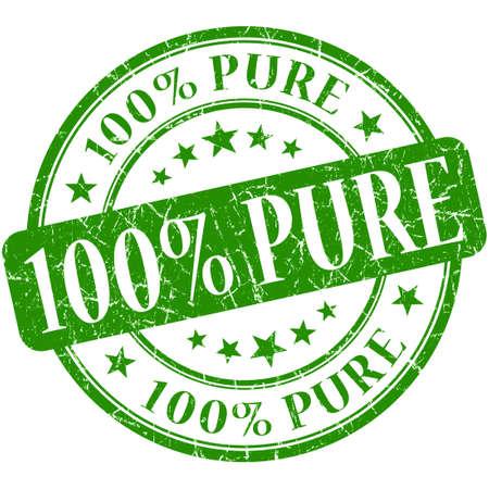 biologic: 100% Pure grunge green round stamp