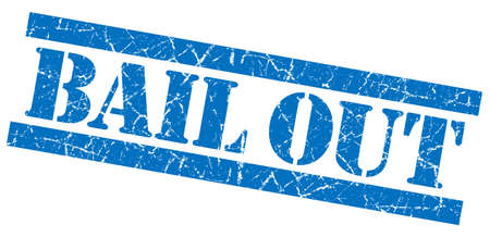 bail: Bail out grunge blue stamp
