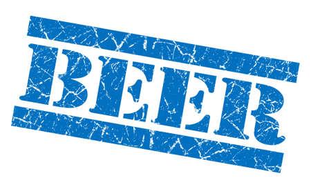 Beer grunge blue stamp photo