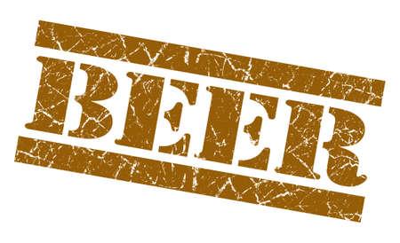 Beer grunge brown stamp photo