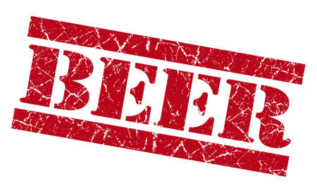 Beer grunge red stamp Stock Photo - 23569774