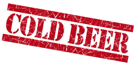 Cold beer grunge red stamp Stock Photo - 23569792