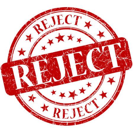 acceptation: Reject grunge red round stamp