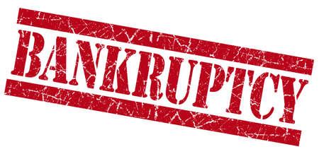 bankruptcy: Bankruptcy grunge red stamp