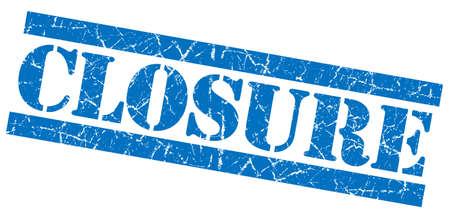 closure: Closure grunge blue stamp