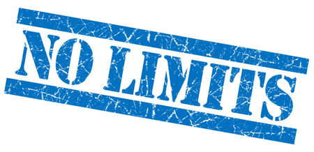 No limits grunge blue stamp photo